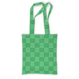 """Сумка с полной запечаткой """"Горох и линия"""" - зеленый, квадрат, геометрия, линия, горох"""