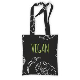 """Сумка с полной запечаткой """"Веган"""" - природа, веган, vegan, go vegan, этика"""
