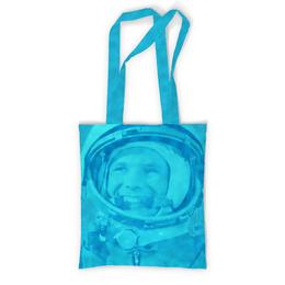 """Сумка с полной запечаткой """"Юрий Гагарин"""" - космос, полет, летчик, первый, космонавт"""