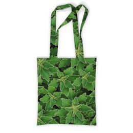 """Сумка с полной запечаткой """"Зеленые листья"""" - белый, лист, листья, зеленый, куст"""