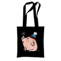 """Сумка с полной запечаткой """"Новогодняя свинка"""" - новый год, new year, свинка, свинья, 2019"""