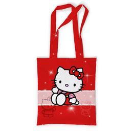 """Сумка с полной запечаткой """"Hello Kitty с искрами"""" - мультфильм, hello kitty, для детей, кошечка, искры"""
