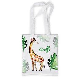 """Сумка с полной запечаткой """"Жираф"""" - листья, природа, жираф, зоопарк"""