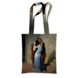 """Сумка с полной запечаткой """"Поцелуй (Франческо Айец)"""" - картина, живопись, айец"""