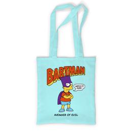 """Сумка с полной запечаткой """"Бартмен"""" - прикольные, супергерои, симпсоны, барт симпсон, бартмен"""