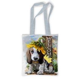 """Сумка с полной запечаткой """"Собака"""" - цветок, собака, животное"""