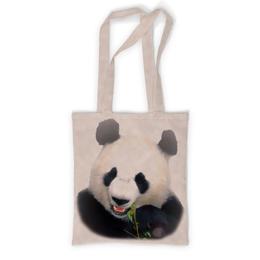 """Сумка с полной запечаткой """"Панда"""" - медведь, панда, черно-белый, китай, бамбуковый"""