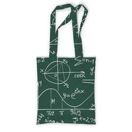 """Сумка с полной запечаткой """"Математика"""" - символы, математика, формулы, графики, константы"""