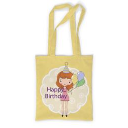 """Сумка с полной запечаткой """"День рождения"""" - день рождения, happy birthday"""