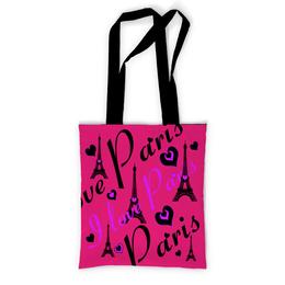 """Сумка с полной запечаткой """"Париж"""" - девушке, париж, подарок на 8 марта"""