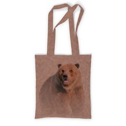 """Сумка с полной запечаткой """"Медведь"""" - медведь, дикий, зверь, животное, бурый"""