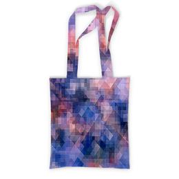 """Сумка с полной запечаткой """"Пиксель-арт. Сине-розовый паттерн"""" - узор, оригинальный, куб, паттерн, геометрический"""