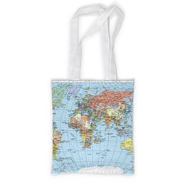 """Сумка с полной запечаткой """"Карта мира"""" - мир, страны, карта, политика, география"""