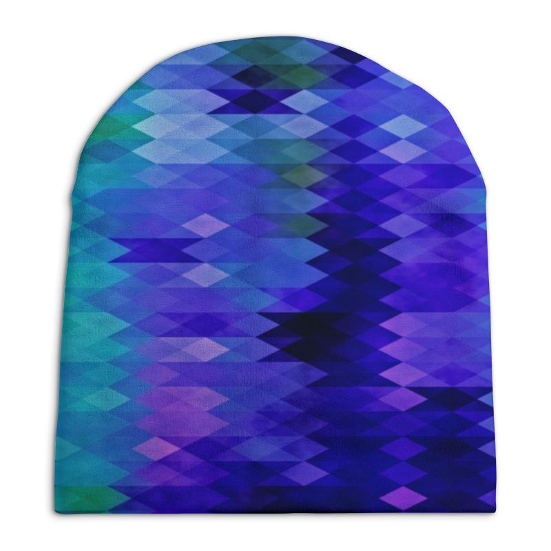 Шапка унисекс с полной запечаткой Printio Цветные ромбы printio шапка унисекс с полной запечаткой
