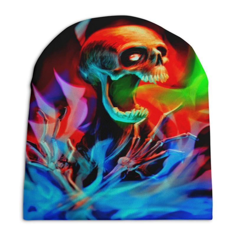 Шапка унисекс с полной запечаткой Printio Скелет свитшот унисекс с полной запечаткой printio рыба скелет