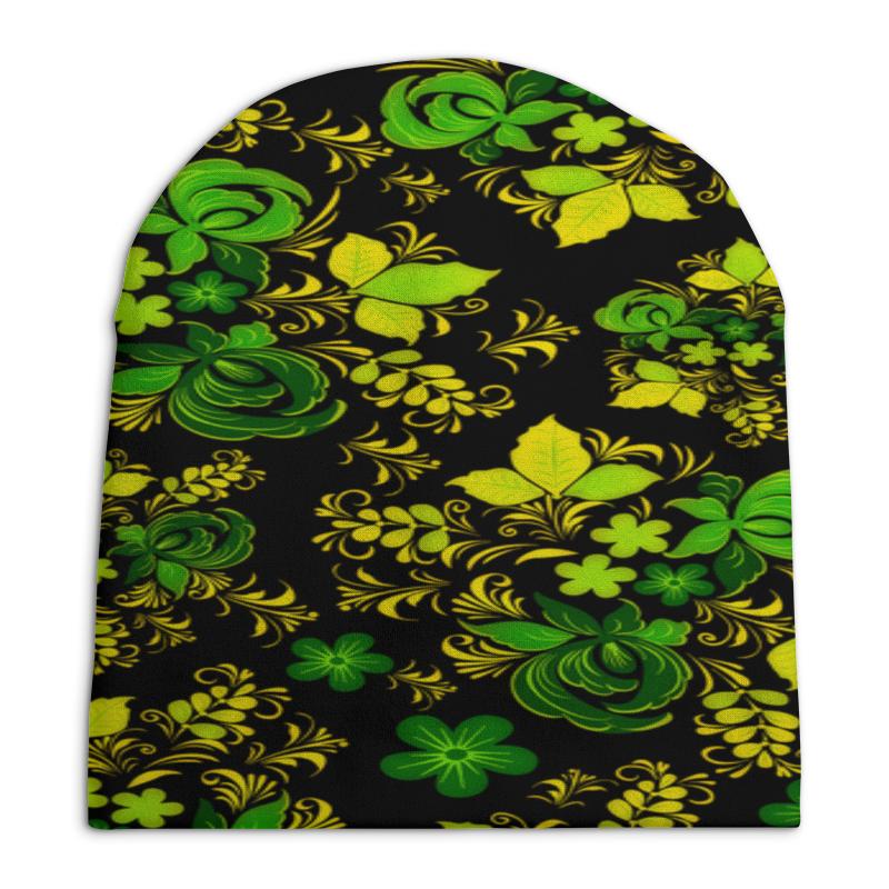 Шапка унисекс с полной запечаткой Printio Зеленый узор шапка унисекс с полной запечаткой printio геометрический узор