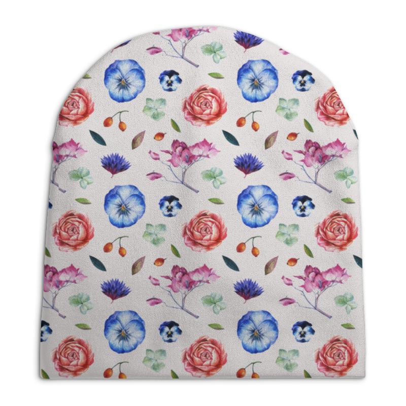 Шапка унисекс с полной запечаткой Printio Цветики цветочки mymei 2016 шапочки вязать мужская зимняя skullies шапки шапка капот зимние шапки для мужчин женщин beanie fur теплый мешковатые ша