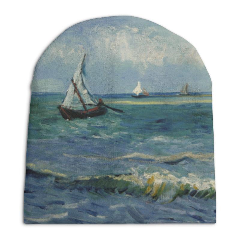Шапка унисекс с полной запечаткой Printio Морской пейзаж у сент-мари-де-ла-мер (ван гог) рюкзак с полной запечаткой printio девушка с японским зонтиком виллем де зварт