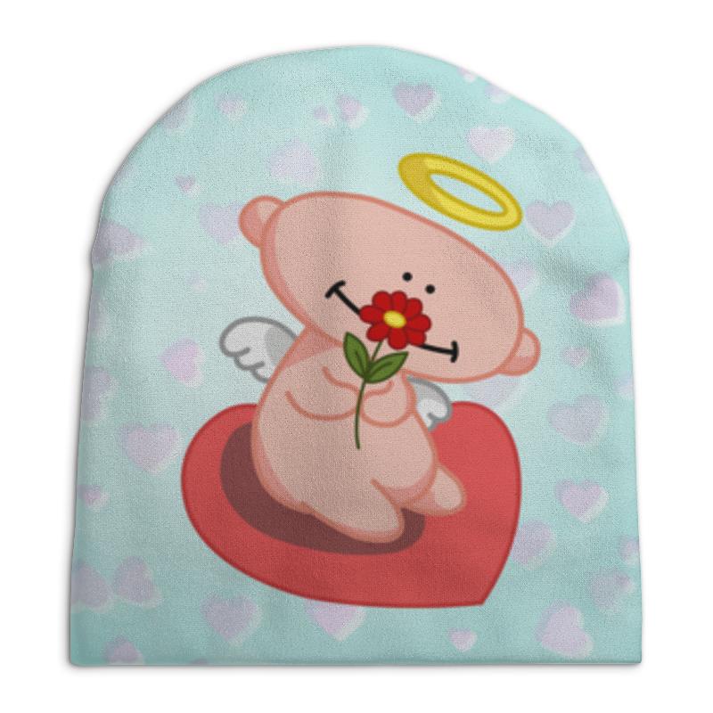 Шапка унисекс с полной запечаткой Printio Влюбленный ангелок с сердцем