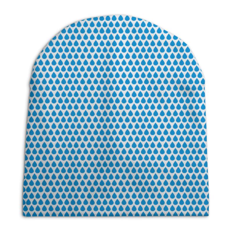 Шапка унисекс с полной запечаткой Printio Капельки шапка унисекс с полной запечаткой printio травка