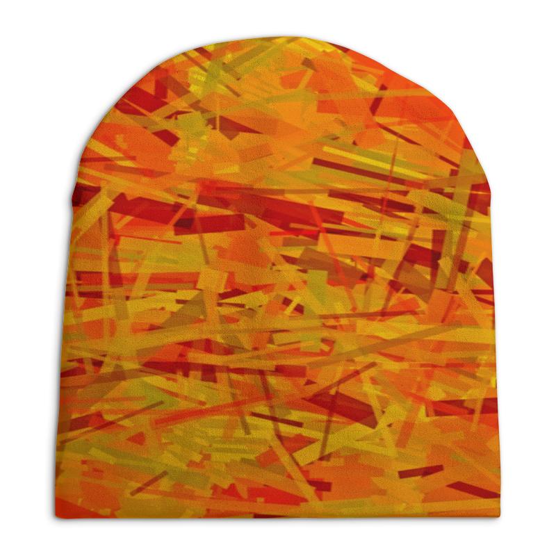 Фото - Printio Желтые полосы шапка унисекс с полной запечаткой printio черно желтые краски