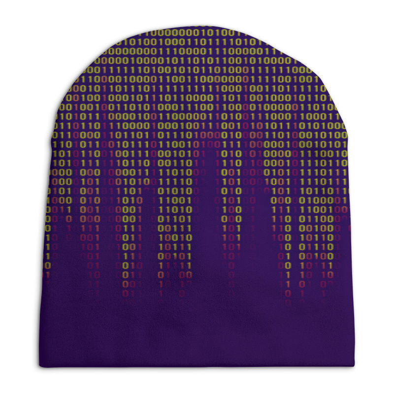 Шапка унисекс с полной запечаткой Printio Цифры шапка унисекс с полной запечаткой printio огурчики