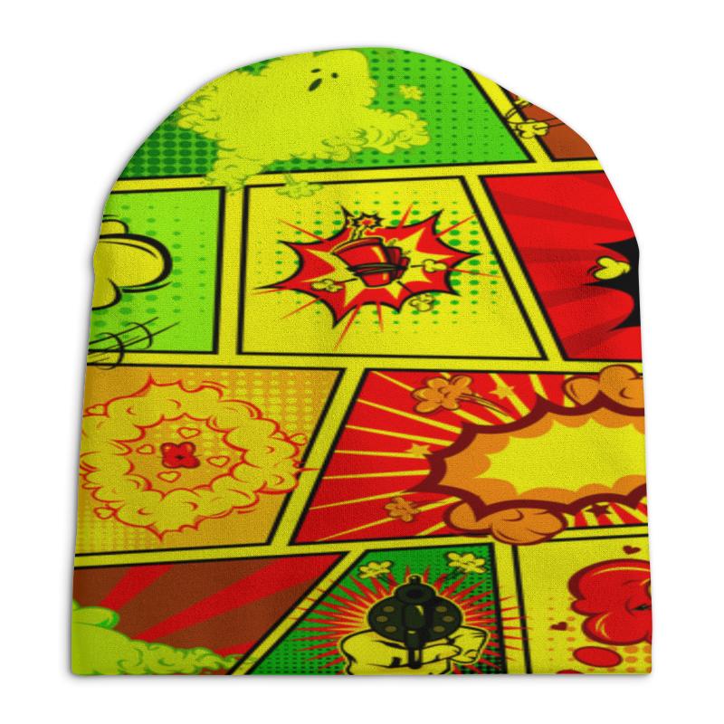 Шапка унисекс с полной запечаткой Printio Взрыв шапка унисекс с полной запечаткой printio зимние забавы