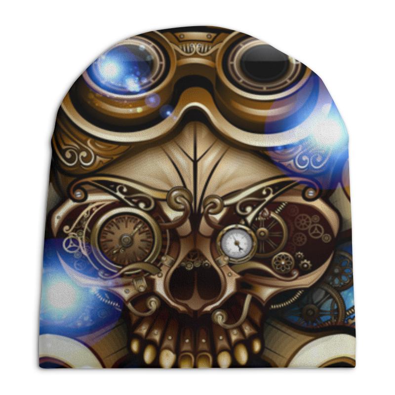 Шапка унисекс с полной запечаткой Printio Стимпанк-череп ws 283 шкатулка в стиле стимпанк осьминог и сундук 1197307
