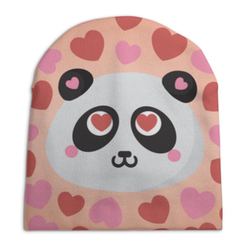 Шапка унисекс с полной запечаткой Printio Влюбленная панда влюбленная душа