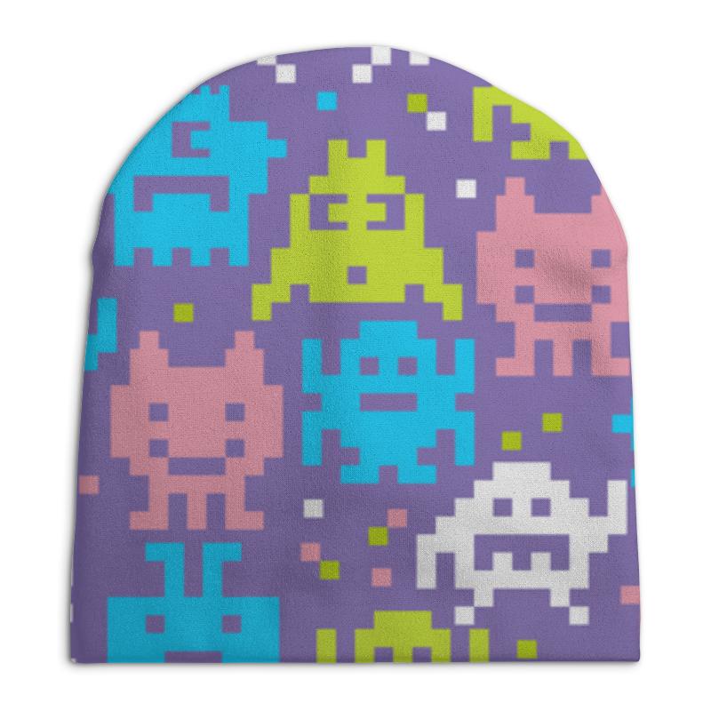 Шапка унисекс с полной запечаткой Printio Космические захватчики шапка унисекс с полной запечаткой printio спиннер