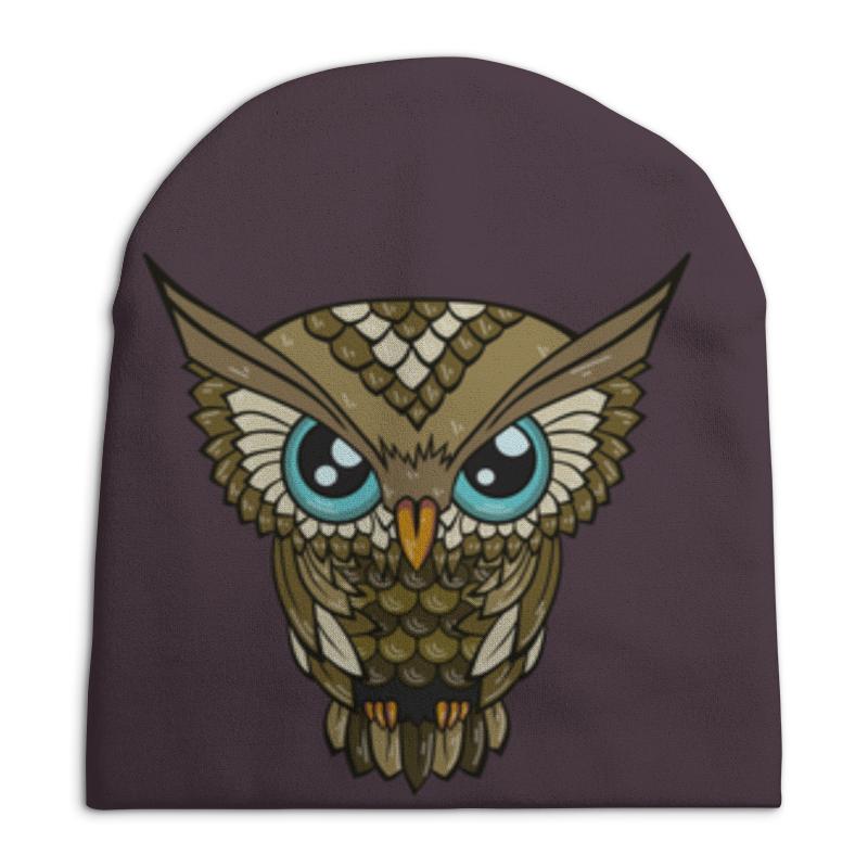 Шапка унисекс с полной запечаткой Printio Owl / сова свитшот унисекс с полной запечаткой printio night owl