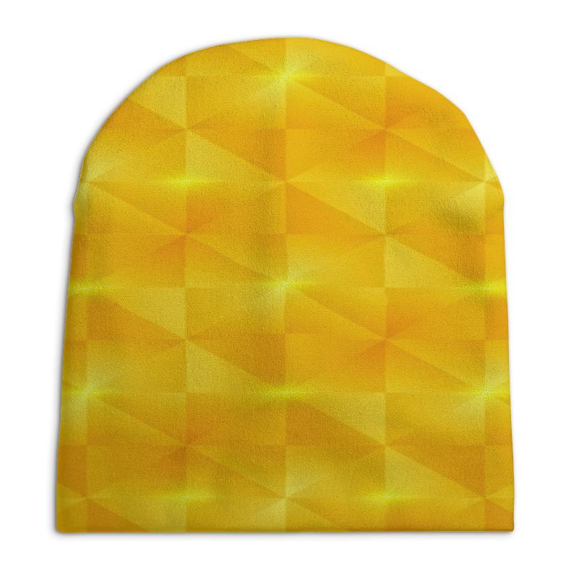 Шапка унисекс с полной запечаткой Printio Желтые квадраты шапка унисекс с полной запечаткой printio закат в ялте айвазовский