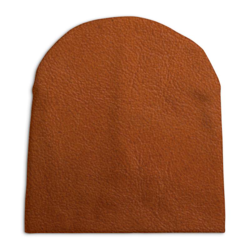 Шапка унисекс с полной запечаткой Printio Кожаная текстура цена