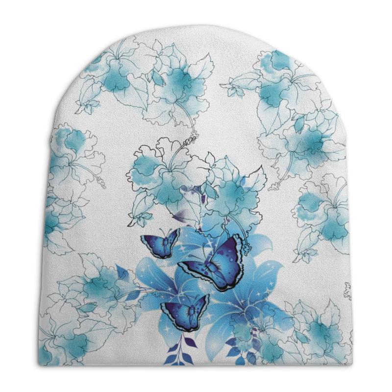 Шапка унисекс с полной запечаткой Printio цветочки