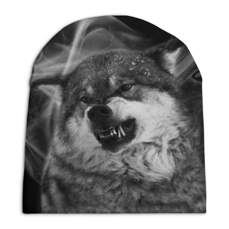 Шапка унисекс с полной запечаткой Printio Серый волк бомбер printio серый волк