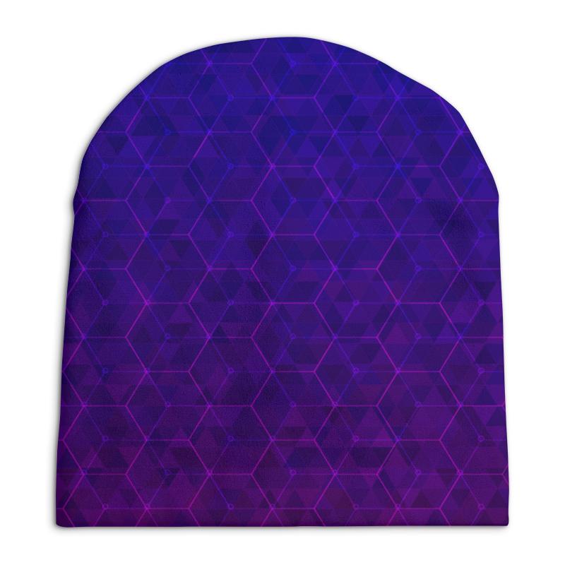 Шапка унисекс с полной запечаткой Printio Purple fit шапка true spin baseball classic purple