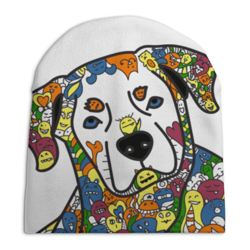 Шапка унисекс с полной запечаткой Printio Собака из дудл монстров рубашка поло с полной запечаткой printio собака из дудл монстров