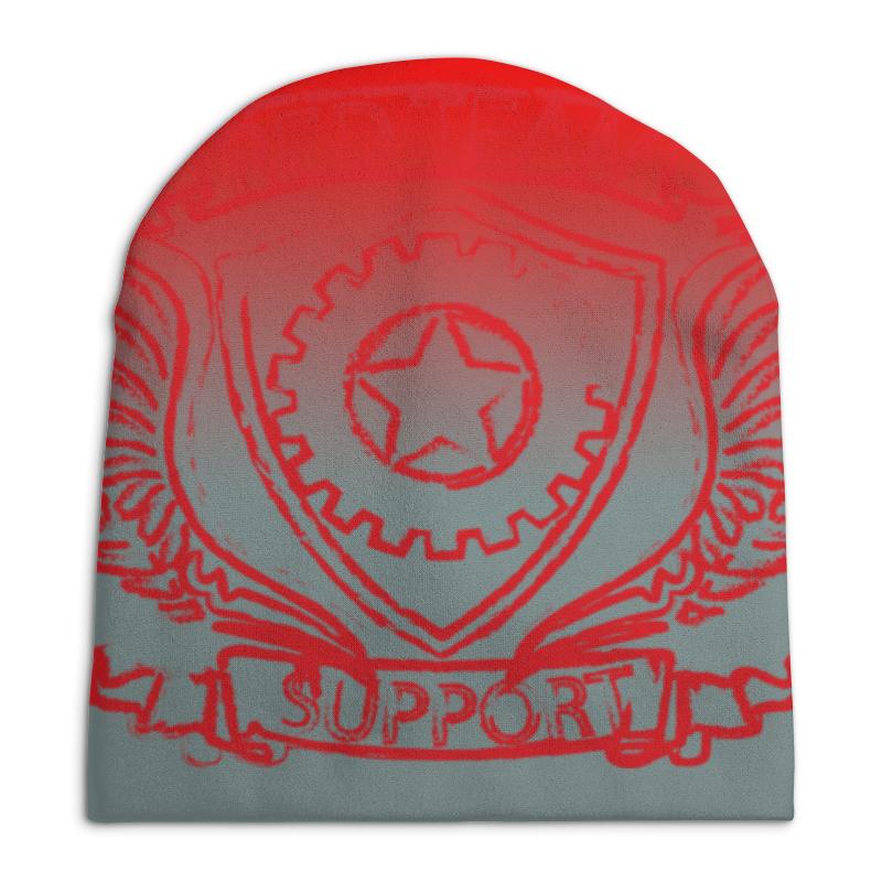 Шапка унисекс с полной запечаткой Printio Red team red fox платье foxy team с капюшоном детское 146 1100 бордовый