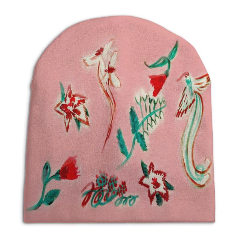 Шапка унисекс с полной запечаткой Printio Цветочная сказка юбка карандаш printio цветочная сказка