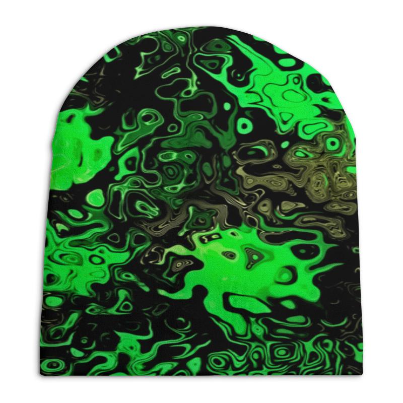 Шапка унисекс с полной запечаткой Printio Серо-зеленый шапка унисекс с полной запечаткой printio зеленый хаки