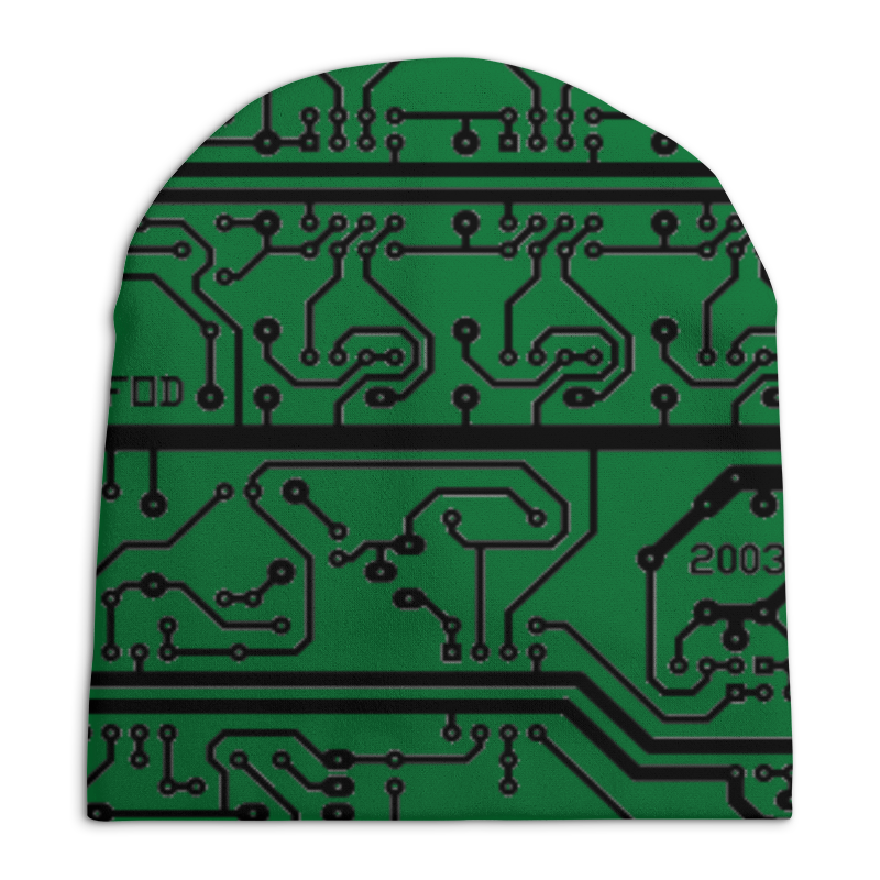 Шапка унисекс с полной запечаткой Printio Электроника электроника в автомобиле вып 123