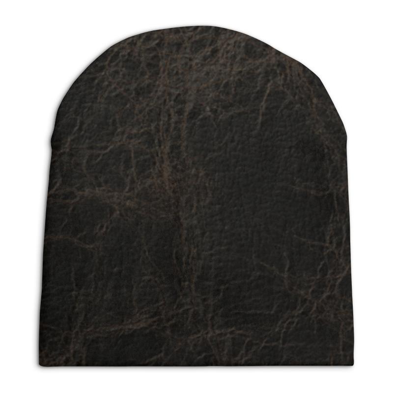 Шапка унисекс с полной запечаткой Printio Кожаная текстура шапка унисекс с полной запечаткой printio спиннер