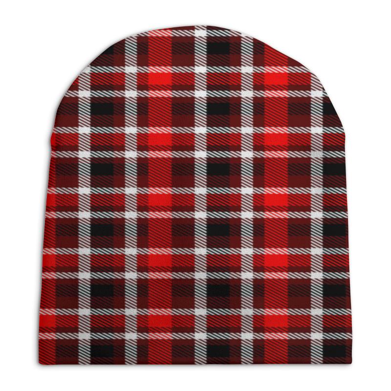 Шапка унисекс с полной запечаткой Printio Шотландка шапка унисекс с полной запечаткой printio texture