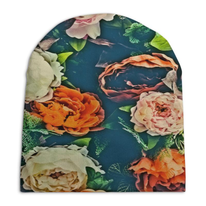 Фото - Шапка унисекс с полной запечаткой Printio Flowers свитшот унисекс с полной запечаткой printio алфавит