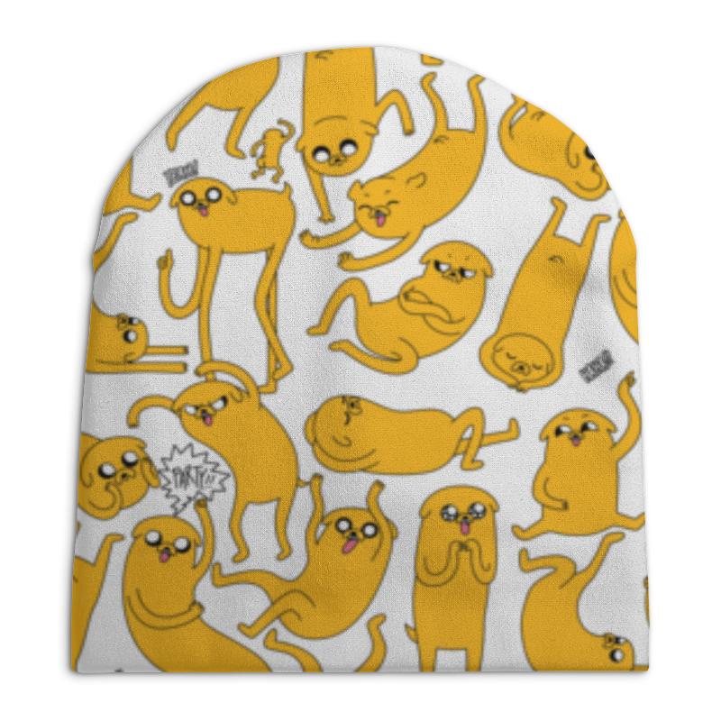 Шапка унисекс с полной запечаткой Printio джейк пёс. время приключений шапка джейк время приключений