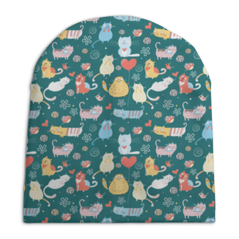 Шапка унисекс с полной запечаткой Printio Счастливые котики бомбер printio счастливые котики