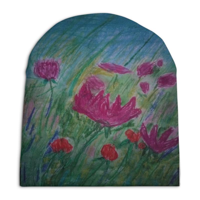 Шапка унисекс с полной запечаткой Printio Полевые цветы невидимка для волос funny bunny розовые цветы 2 шт