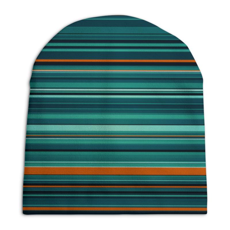 Шапка унисекс с полной запечаткой Printio Полосатая абстракция шапка унисекс с полной запечаткой printio синяя абстракция