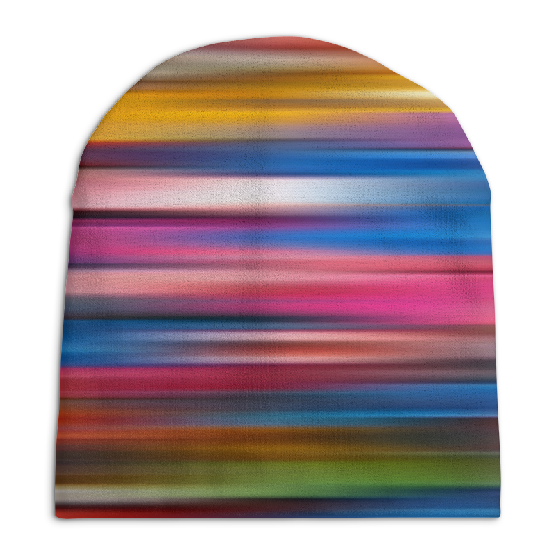 Шапка унисекс с полной запечаткой Printio Краски радуги шапка классическая унисекс printio генератор радуги
