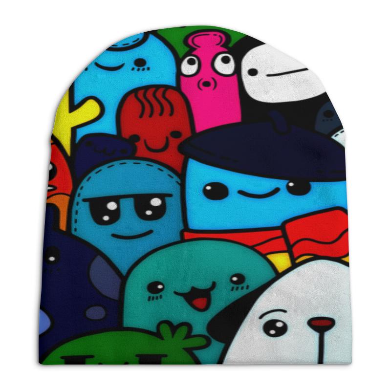 Printio Цветные смайлы шапка унисекс с полной запечаткой printio смайлы